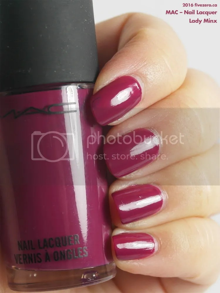 MAC Nail Lacquer in Lady Minx, swatch