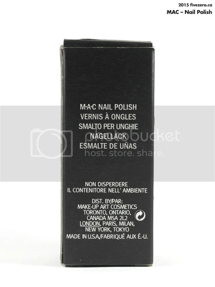 MAC Nail Polish in Tilt, box
