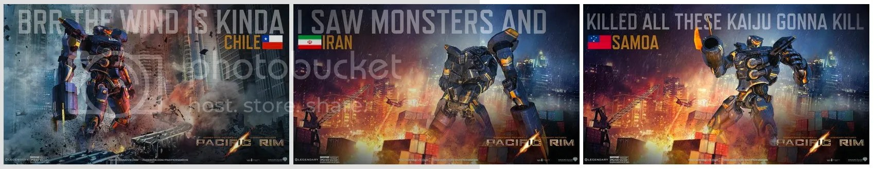 Memes made from Warner Bros.' online Jaeger-maker for Pacific Rim movie