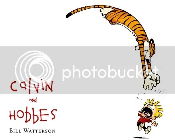 Calvin & Hobbes, Hobbes jumping on Calvin