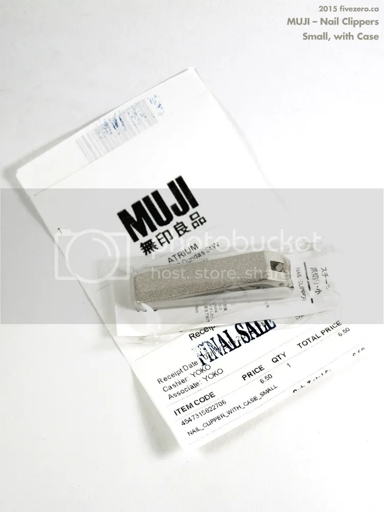 Muji silver nail clippers, small with case