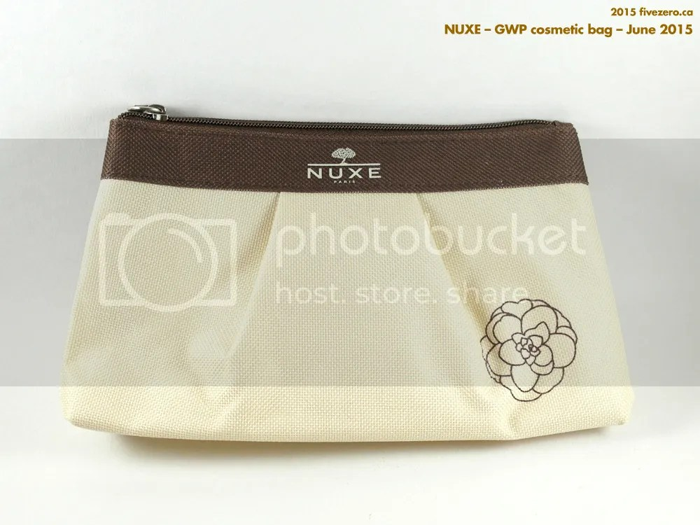 Nuxe GWP cosmetic bag, June 2015