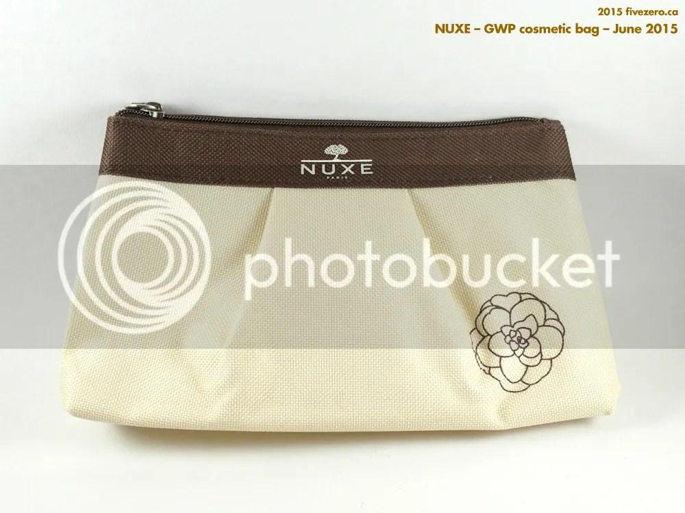 Nuxe GWP cosmetic bag, June 2015