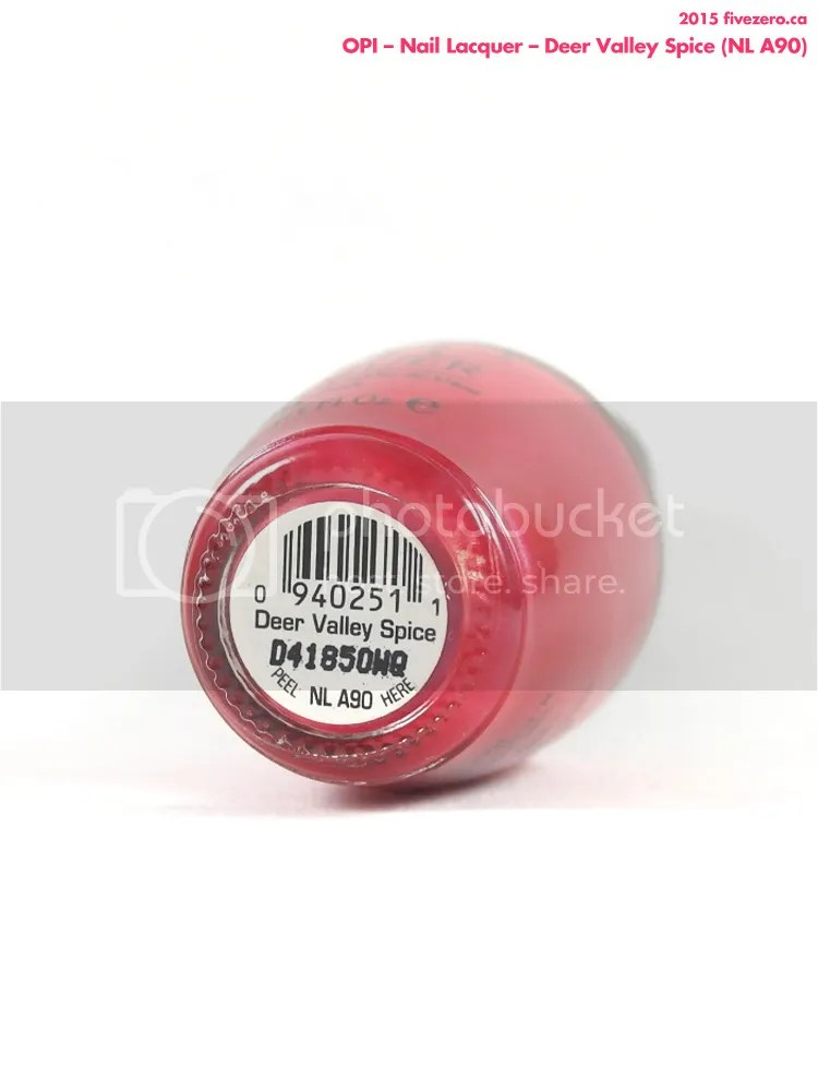 OPI Nail Lacquer in Deer Valley Spice, label