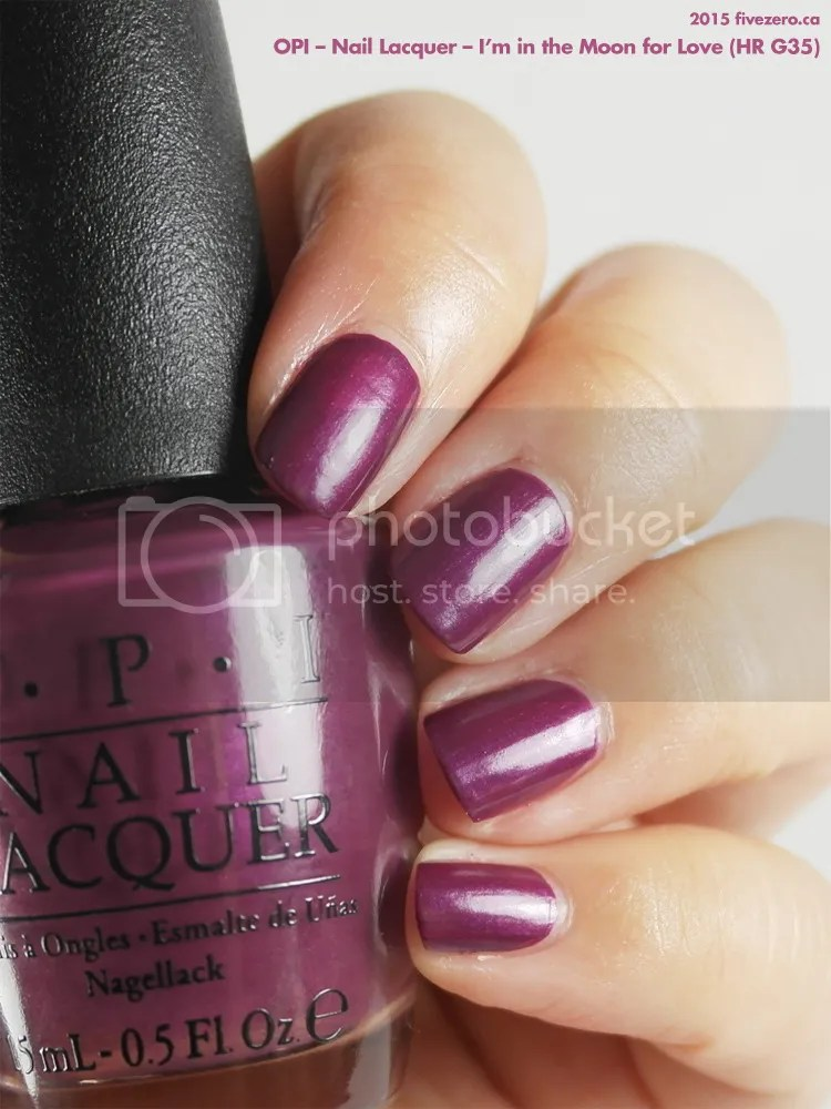 OPI Nail Lacquer in I'm in the Moon for Love, swatch