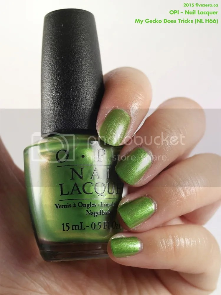 OPI Nail Lacquer in My Gecko Does Tricks, swatch