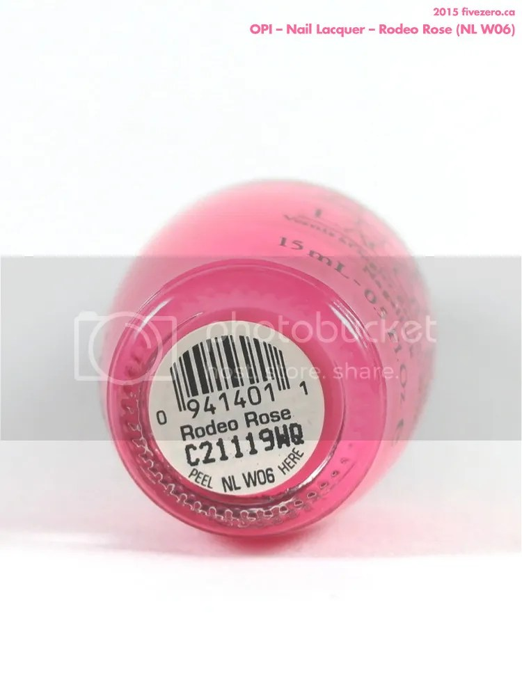 OPI Nail Lacquer in Rodeo Rose, label