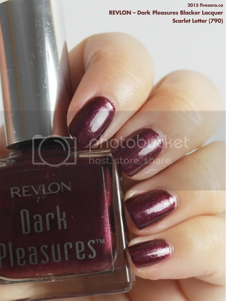 Revlon Dark Pleasures Blacker Lacquer in Scarlet Letter, swatch