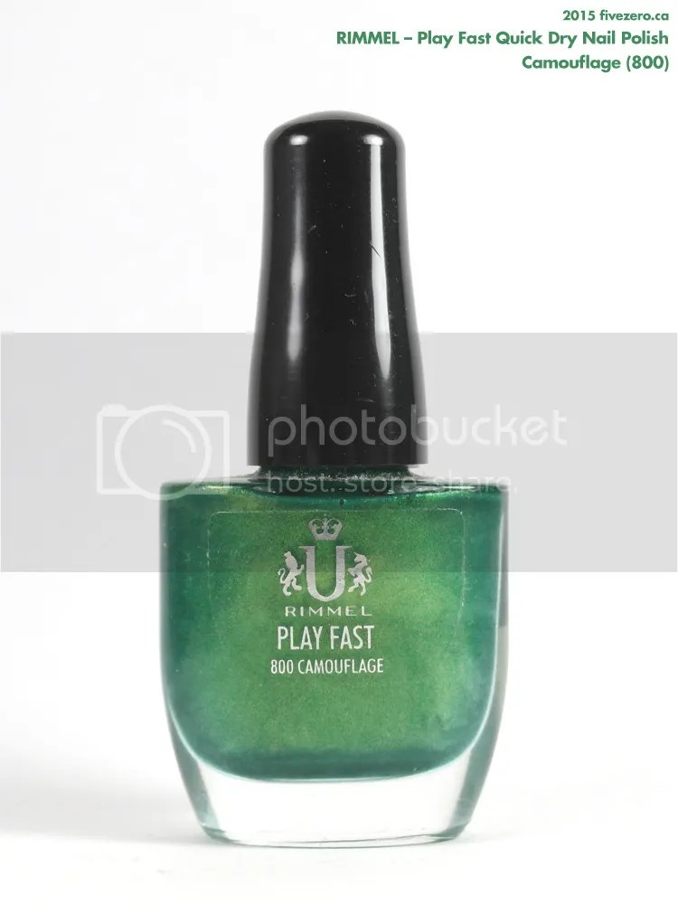 Rimmel Play Fast Quick Dry Nail Polish in Camouflage, bottle
