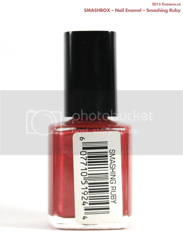 Smashbox Nail Enamel in Smashing Ruby, label