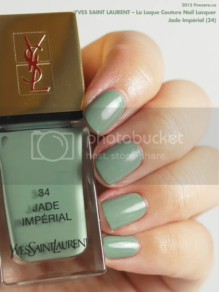 Yves Saint Laurent La Laque Couture Nail Lacquer in Jade Impérial, swatch
