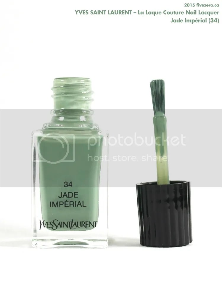 Yves Saint Laurent La Laque Couture Nail Lacquer in Jade Impérial, brush