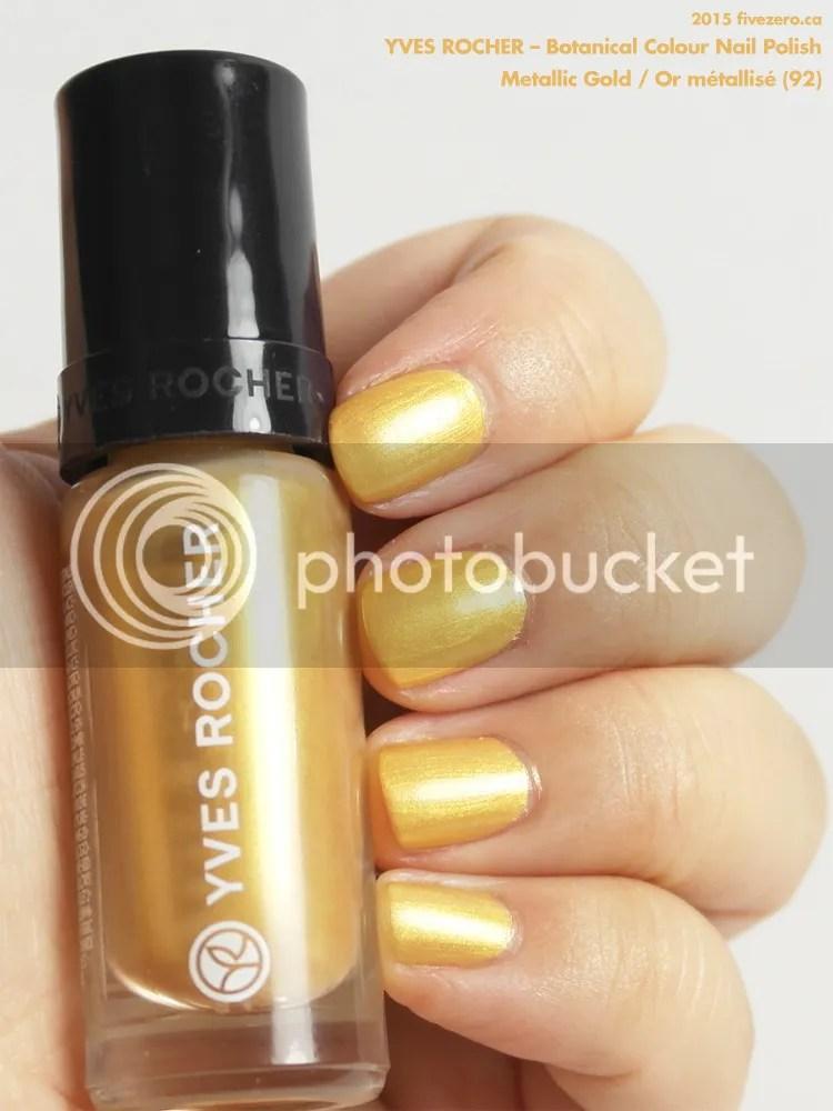 Yves Rocher Botanical Colour Nail Polish in Metallic Gold / Or métallisé, swatch