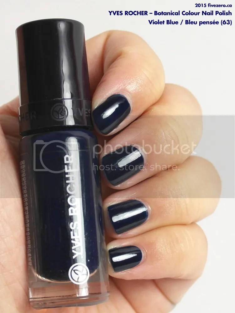Yves Rocher Botanical Colour Nail Polish in Violet Blue, swatch