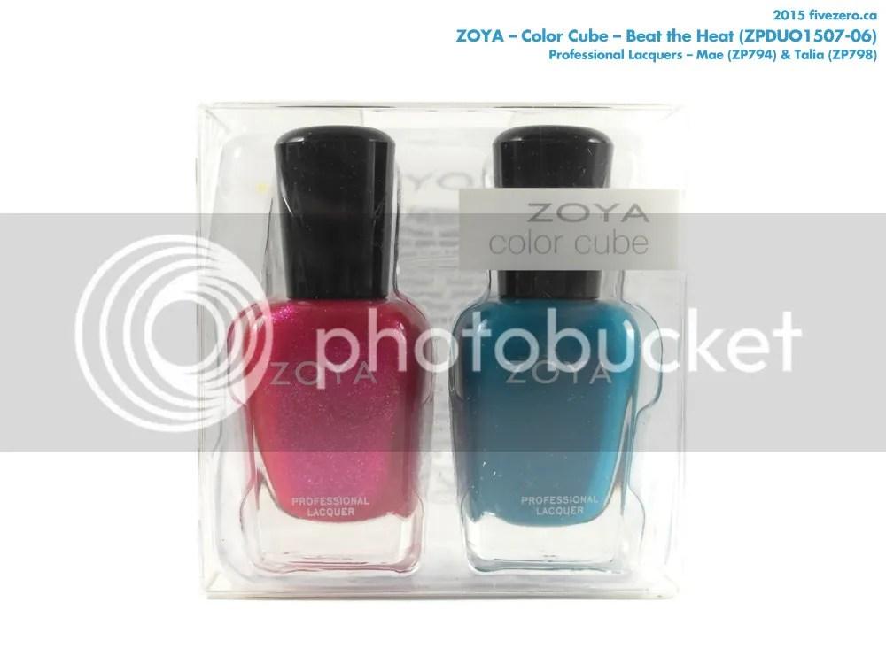 Zoya Color Cube in Beat the Heat (Talia & Mae)