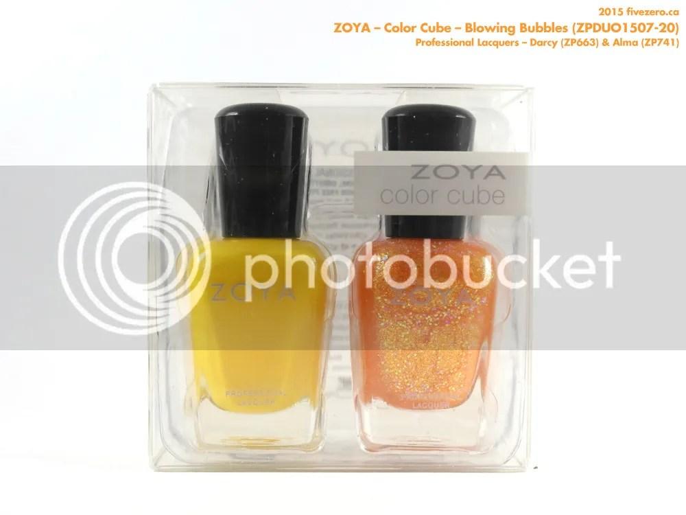 Zoya Color Cube in Blowing Bubbles (Darcy & Alma)
