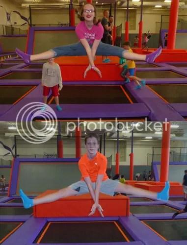 Trampolines Make it Easy to Do Split Kicks