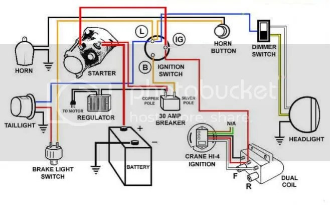 simple chopper wiring diagram introduction to electrical wiring rh wiringdiagramdesign today Xs650 Bobber Wiring 49Cc Mini Chopper Wiring Diagram