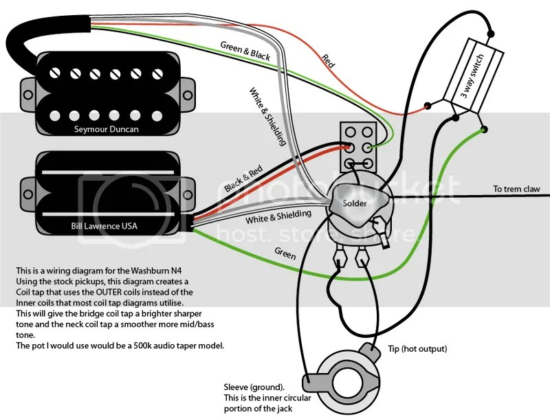 How do I wiring a dean ml x guitar it as one vol. pot one