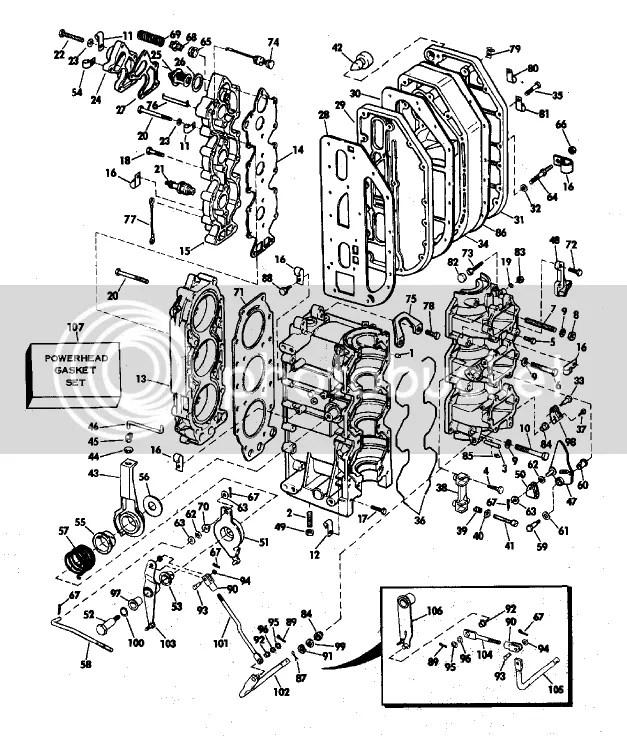Help Identify Broken Part! 1975 70HP Evinrude Page: 1