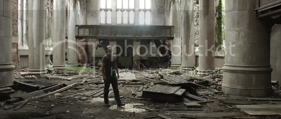 Still from the scene in the old Church.