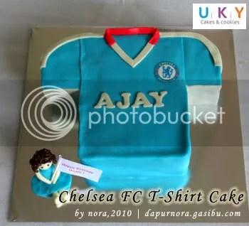 Tshirt cake chelsea fc
