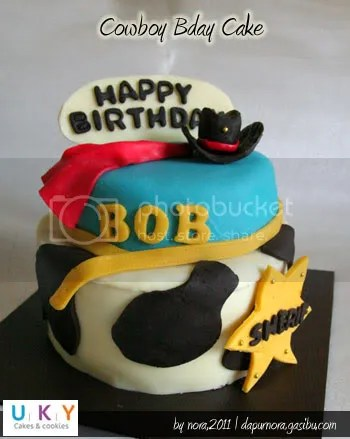 birthday cake cowboy bandung