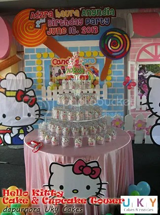 cupcake tower hello kitty bandung