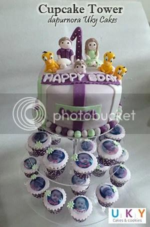 cupcake tower birthday bandung