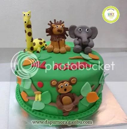 birthday cake animal bandung
