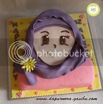 anime cake gadis berhijab bandung