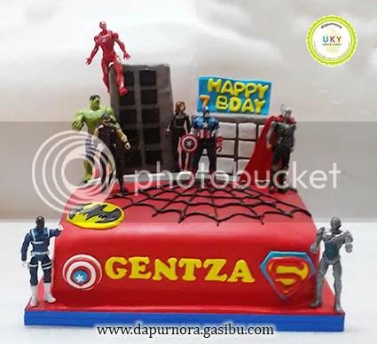 super hero birthday cake bandung