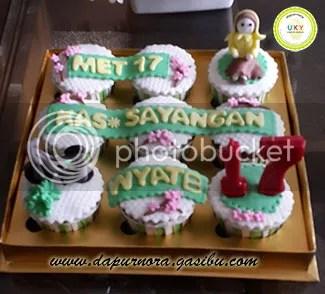 cupcake ulang tahun ke-17 bandung