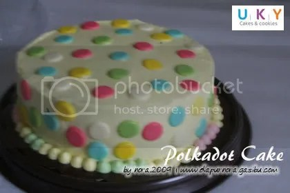 birthday cake polkadot