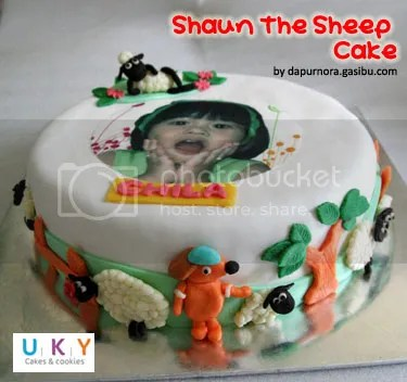 shaun the sheep cake bandung