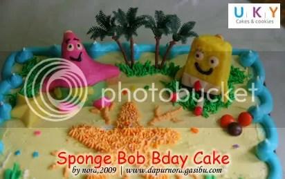 spongebob kue ulang tahun