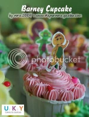 barney cupcake, cupcake ulang tahun, bandung