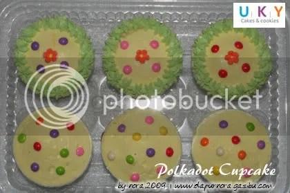 polkadot cupcake