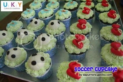 cupcake sepak bola bandung