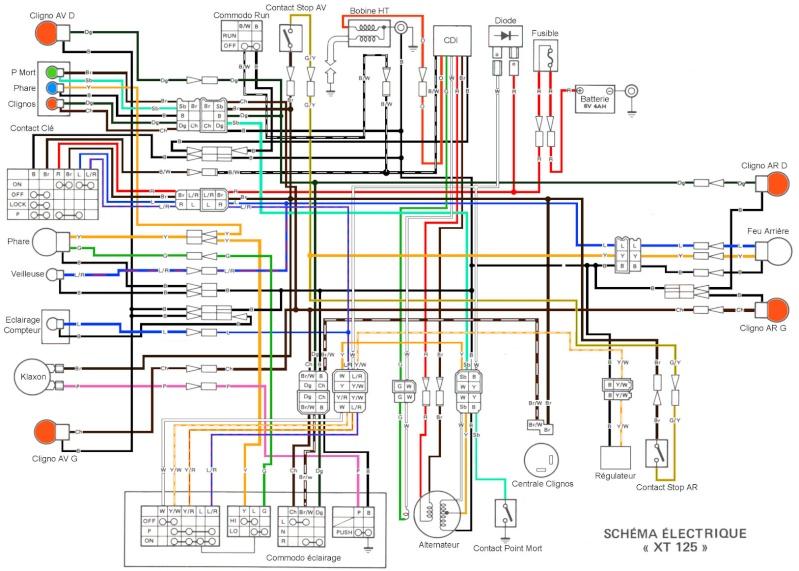 1981 Yamaha Xs400 Wiring Diagram Schema Allumage Yamaha Dt 50