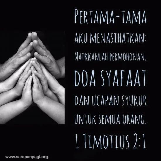 Doa Syafaat  SarapanPagi Biblika