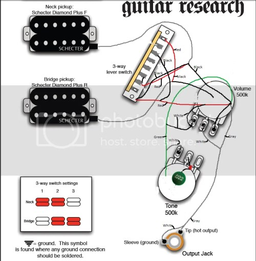 small resolution of schecter diamond series guitar wiring problem
