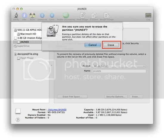 How To Format USB Stick or Flash Drive on Mac OSX