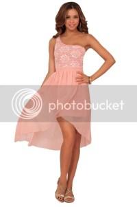 One Shoulder Greek Goddess Inspired Lace High Low ...