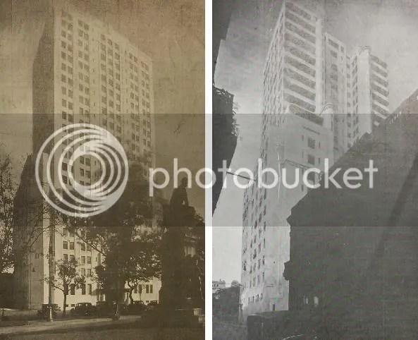 """El edificio del MOP a poco de inaugurarse. """"Ministerio de Obras Públicas de la Nación"""", Revista """"Nuestra Arquitectura"""", junio de 1937, p. 180."""