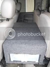 RV.Net Open Roads Forum: Truck Campers: Back Seat storage ...