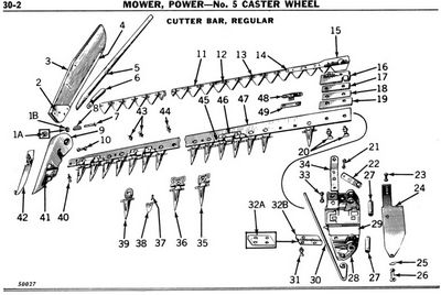 Cars and technology: Ford 501 sickle mower parts