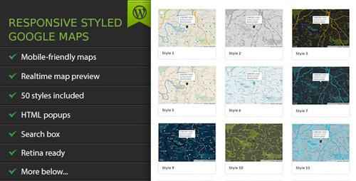 CodeCanyon - Responsive Styled Google Maps v4.6 - WordPress Plugin - 3909576