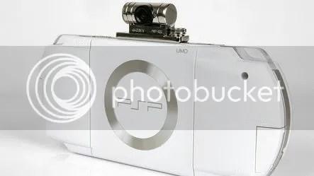 White PSP with Go!Cam
