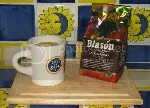 A morning cup of Chiapas coffee in our kitchen
